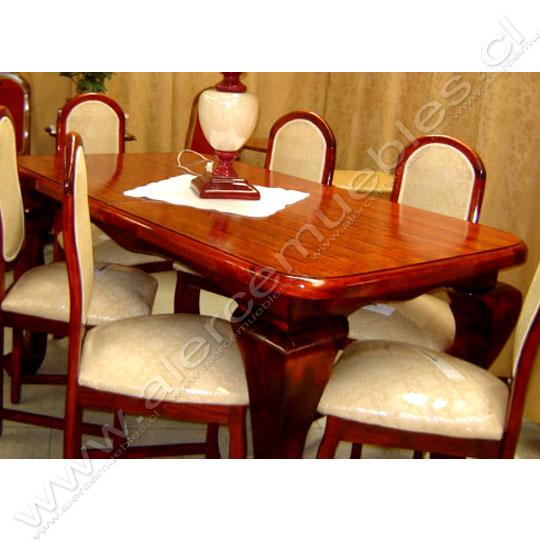 Comedor Mesa Reina Ana doble c/ extension & 6 sillas ...